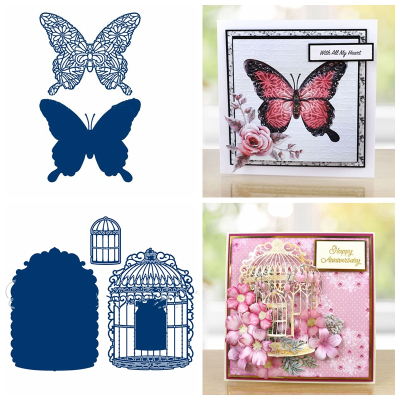 Butterfly Bird Cage <font><b>Metal</b></font> <font><b>Cutting</b></font> <font><b>Dies</b></font> Stencils for DIY Scrapbooking Paper Cards Crafts Making Decorative <font><b>New</b></font> <font><b>2019</b></font> <font><b>Dies</b></font> <font><b>Cutting</b></font> image