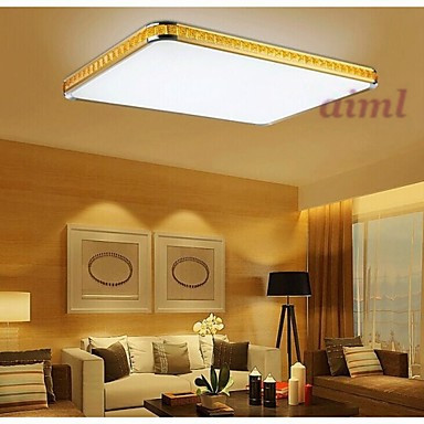 Free Shipping 32W Flush Mounte LED Light Modern Golden Acrylic with Light Ajustable