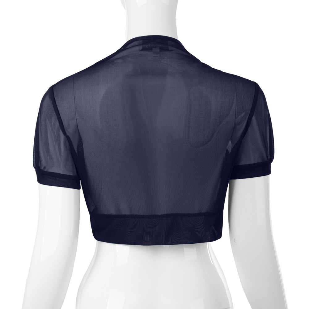 557726f144f27 ... Женская верхняя одежда куртка Лето 2017 г. моды Тонкий Shrug короткий  рукав Болеро укороченные Топы ...