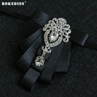 ROKEDISS פרח צווארון 2017 צווארון חדש קוריאני עניבת פרפר החתן של הגברים גאות צווארון פרח צווארון יהלומי שמלת כלה Z271