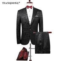 TIAN QIONG 2017 Männer Bräutigam Hochzeitsanzug Slim Männer Anzug Neueste mantel-Hose Designs Mode Kleid Luxus Smoking Männer Blazer 2 Stücke