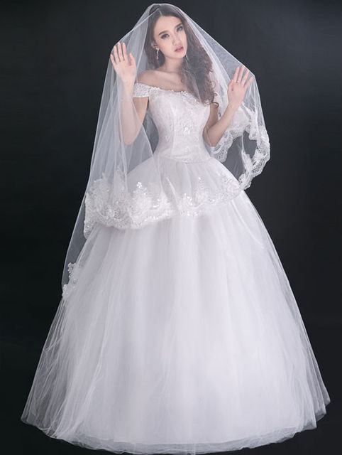 Vintage Victorian Style Cap Sleeves Lace Up Back Princess Bridal Ball Gown  Wedding Dresses 2014 afa7bd1f185b