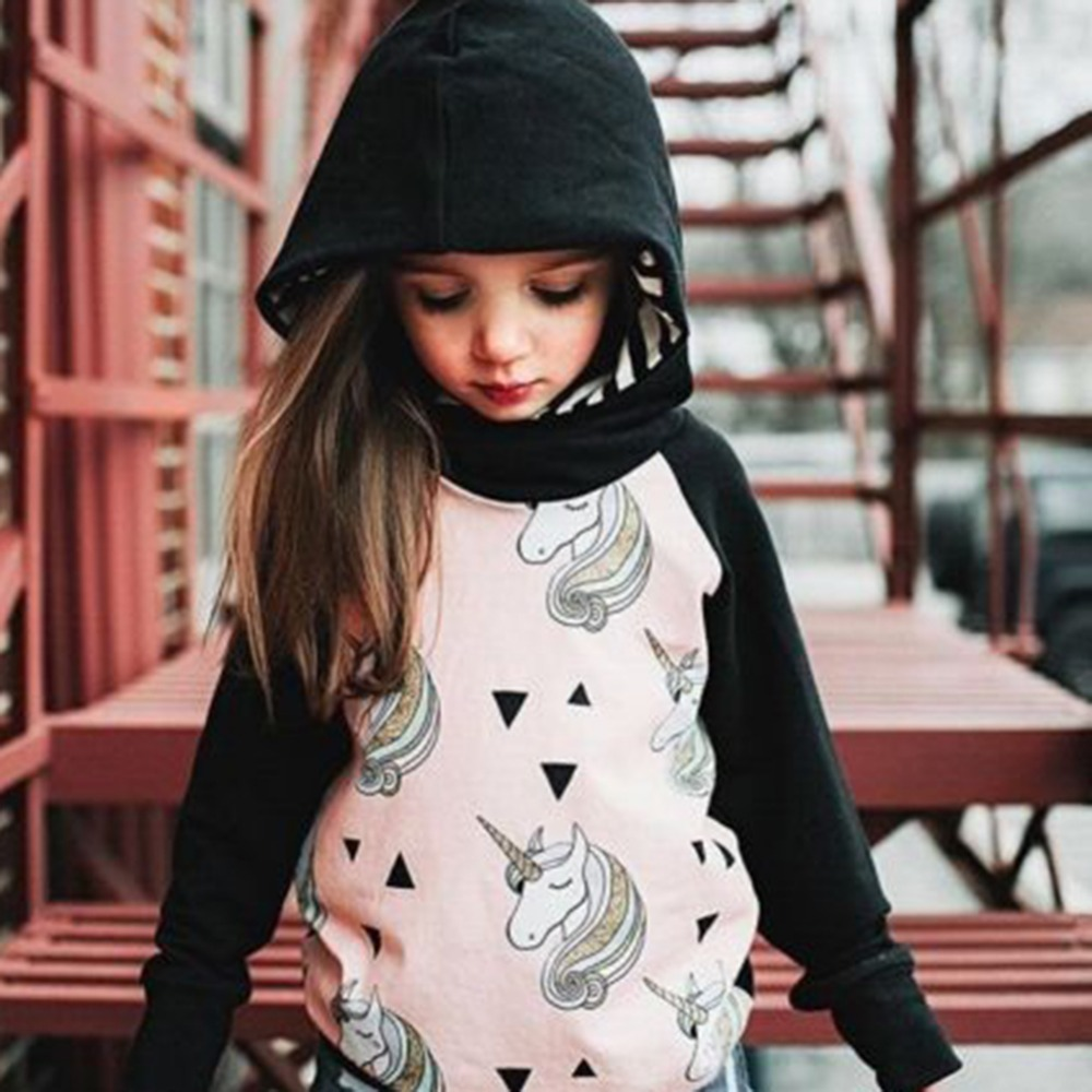 Children Hoodies Fashion Style Print Type Full Sleeve Cotton Material Soft Comfortable for Children Girls Gift Present Christmas