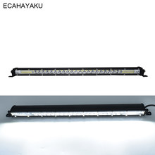 ECAHAYAKU 21inch LED Light Bar Work Light 120W IP67 Dustproof for Driving Offroad Boat Car Train Tractor SUV Trucks ATV 12V/24V(China)