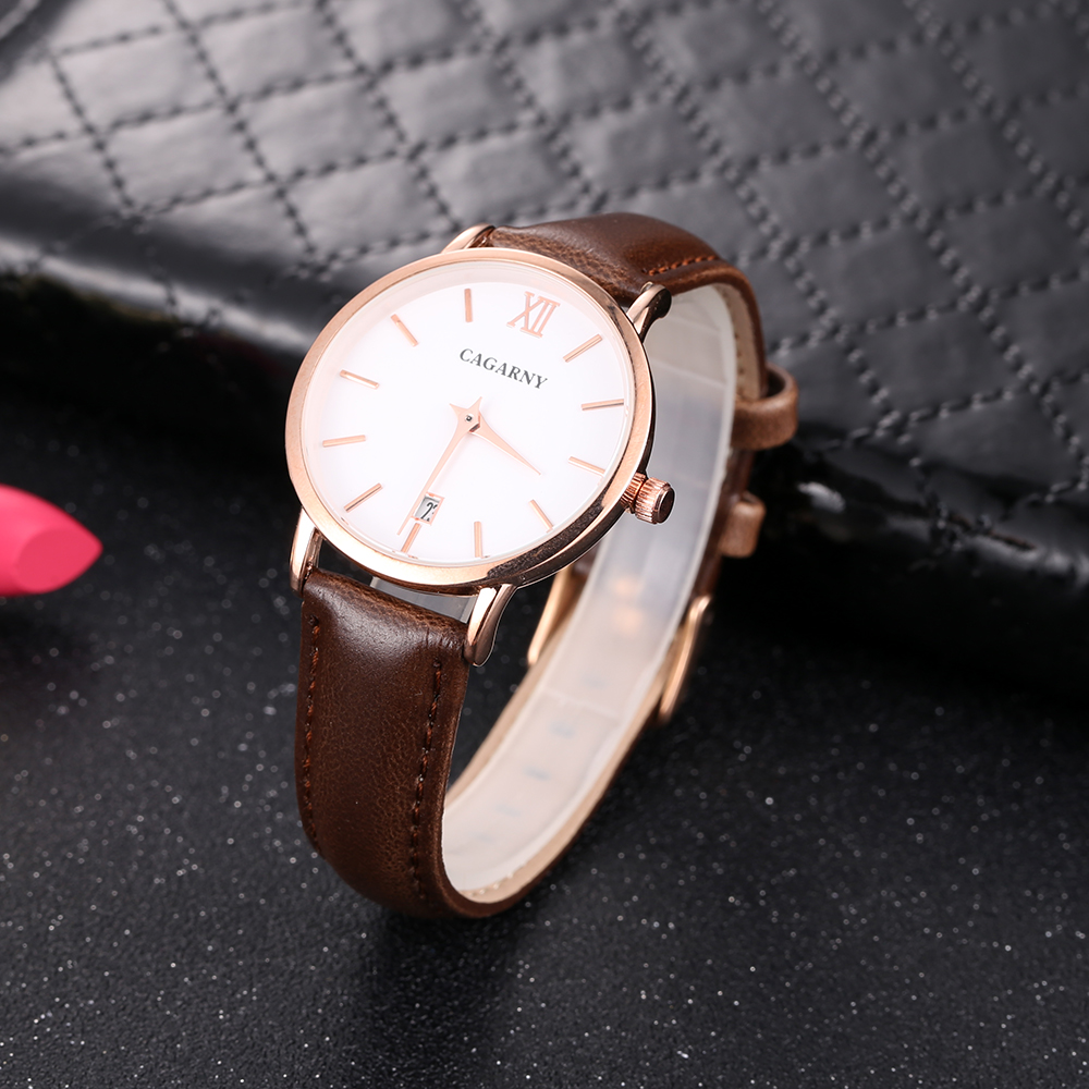 Cagarny Women Watches Luxury Brand Leather belt Ladies Quartz Women Watches 2018 Sport Relogio Feminino Rose Gold Montre Femme Wrist Watch high quality (8)