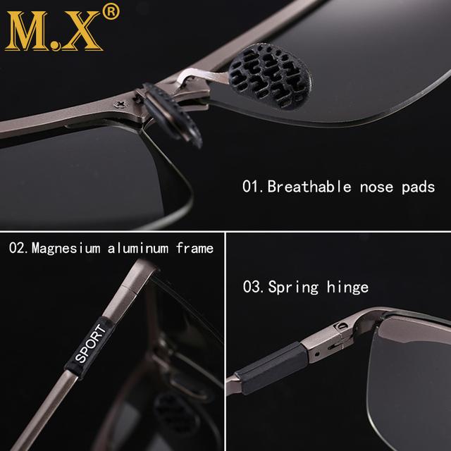Photochromic Sunglasses Men Polarized Chameleon Discoloration Sun glasses for men fashion rimless square sunglasses