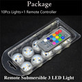 20 Pieces/Lot Free Shipping Original Round Submersible LED FloraLytes / WaterProof LED Mini Light with Remote Controller
