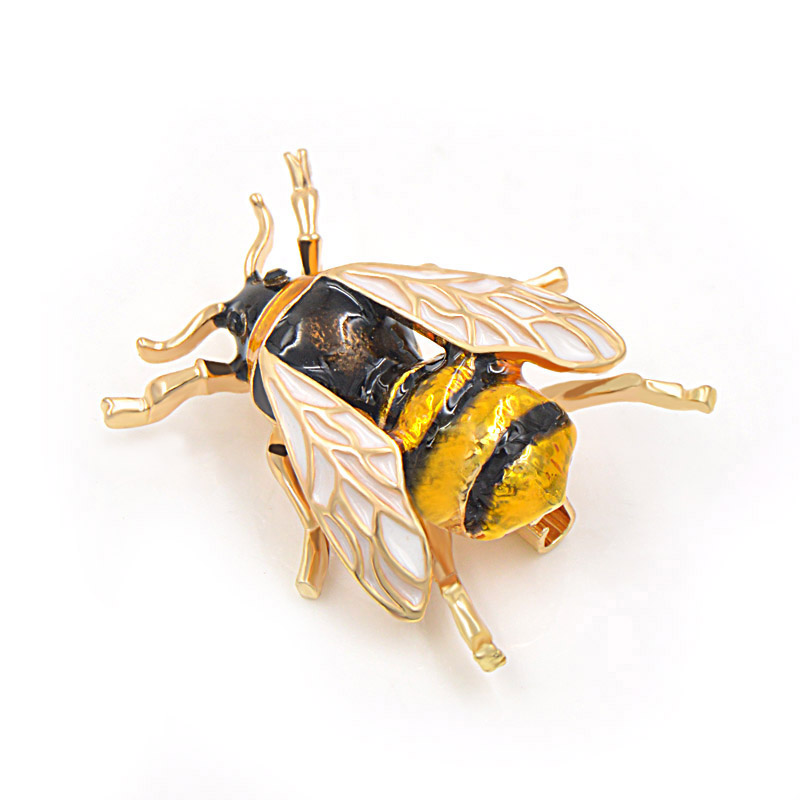CINDY XIANG Unisex Colorful Insect Brooches Cute Bee Brooch Pin Gold Color Enamel Jewelry Fashion Dress Accessories High Qulity 3