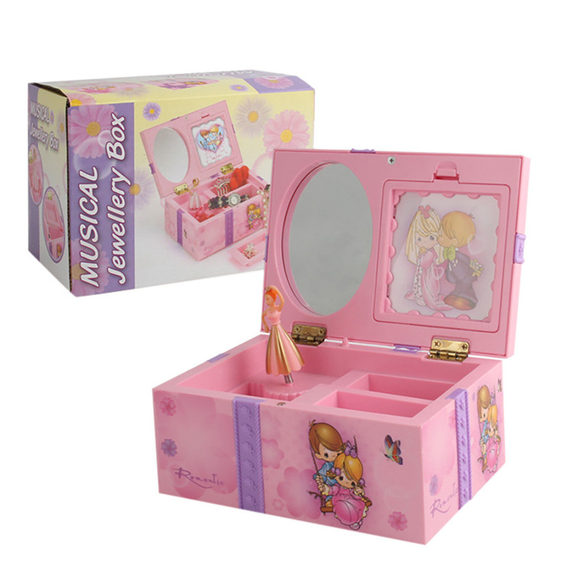 Gift Sweet Musical Jewelry Box With Dancing Ballerina Girl Figurines Musical Box Toy Instrument Educational Kids Toys 40LY19