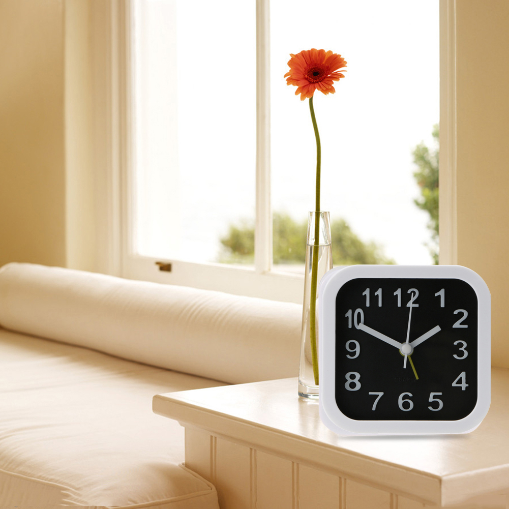 Simple Style Round/Square Child Desktop Clock Bedroom Alarm Clock Table  Digital Clock New Home Decoration Clock In Alarm Clocks From Home U0026 Garden  On ...