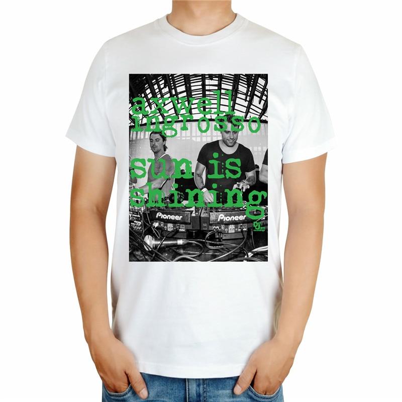 4 вида конструкций черный, белый цвет Летний Стиль Прохладный axwell ingrosso бренд певица DJ мастер ММА принт 3D хлопковая футболка музыка фитнес - Цвет: Небесно-голубой