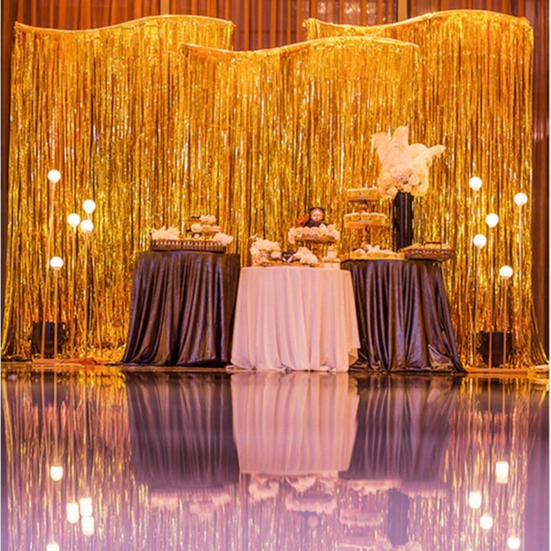 Home Design 3d Gold Ideas: Metal Foil Stripe Door Curtain Of Rain Christmas Wedding