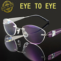 Роскошные женщина очки кадр титана flex crystal clear очки мода марка дизайнер алмаз горный хрусталь оправы 1708