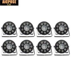 8 sztuk/partii 9x10W + 30w płaskie LED Par światła 9*10w + 30w RGB 3IN1 PAR DMX512 kontroli światła disco profesjonalny sprzęt DJ etap