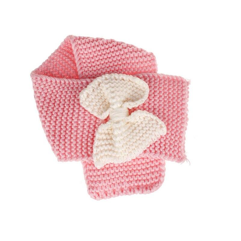 Осенне-зимний теплый шарф для мальчиков и девочек, шаль-снуд, шарфы - Цвет: Розовый