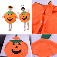 Cute Cosplay Fancy Ball Halloween Fruit Costumes Stage Clothes Kids Girls Performing Wear Hat Suit Children's Pumpkin Clothing