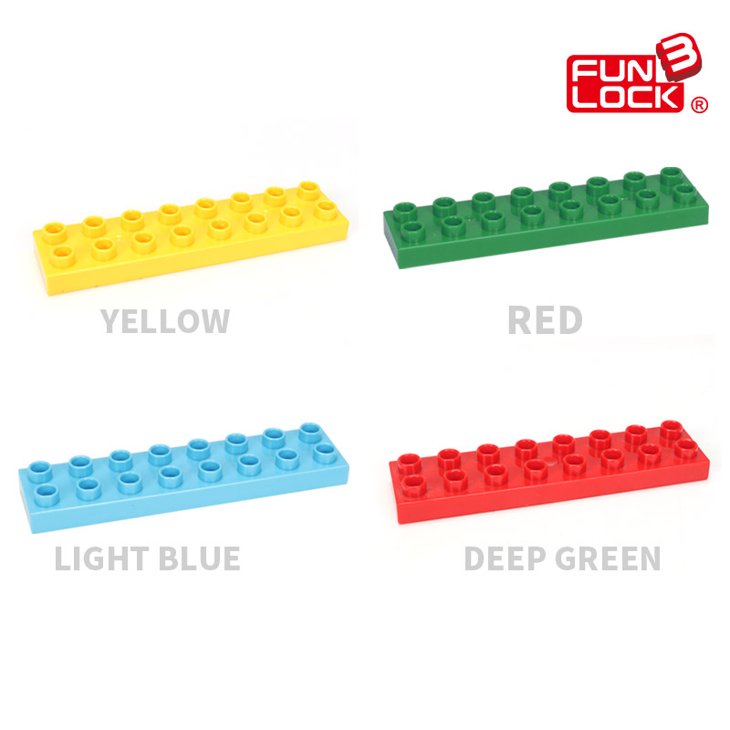 Funlock Duplo Building Blocks Brick Bottom Plate Baseboard - Mainan pembinaan - Foto 3