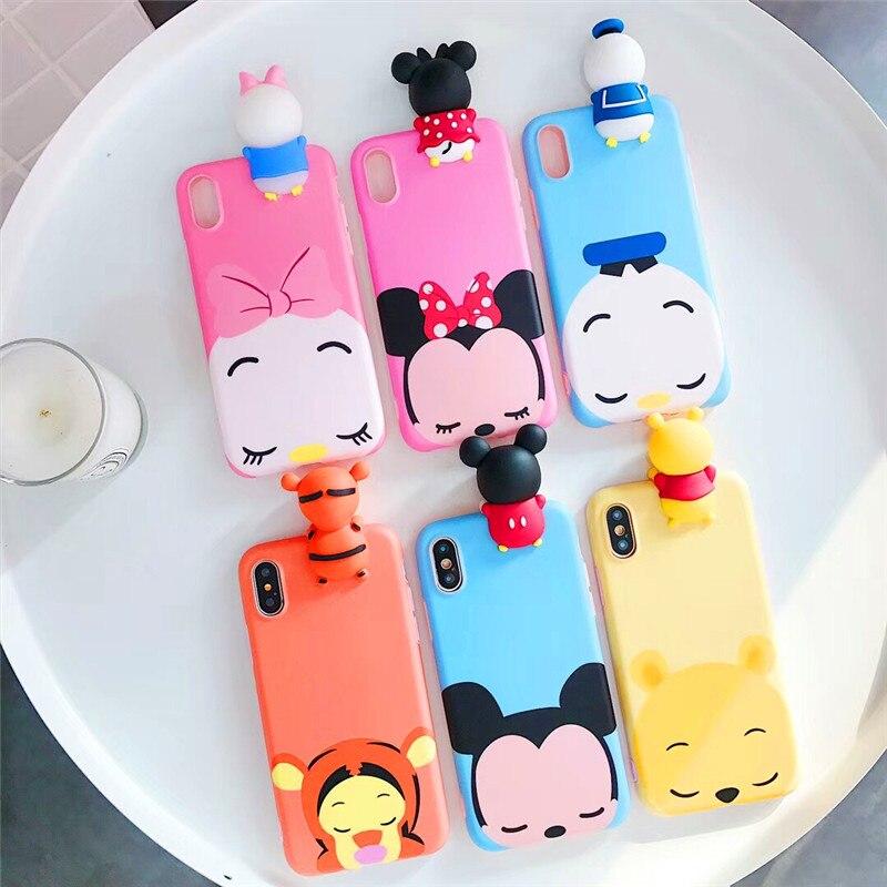 New Cartoon Silicone Winnie Pooh Tigger Fundas Coque Iphone X XS 6 6S 7 8 Plus Soft Cover Para Capinhas