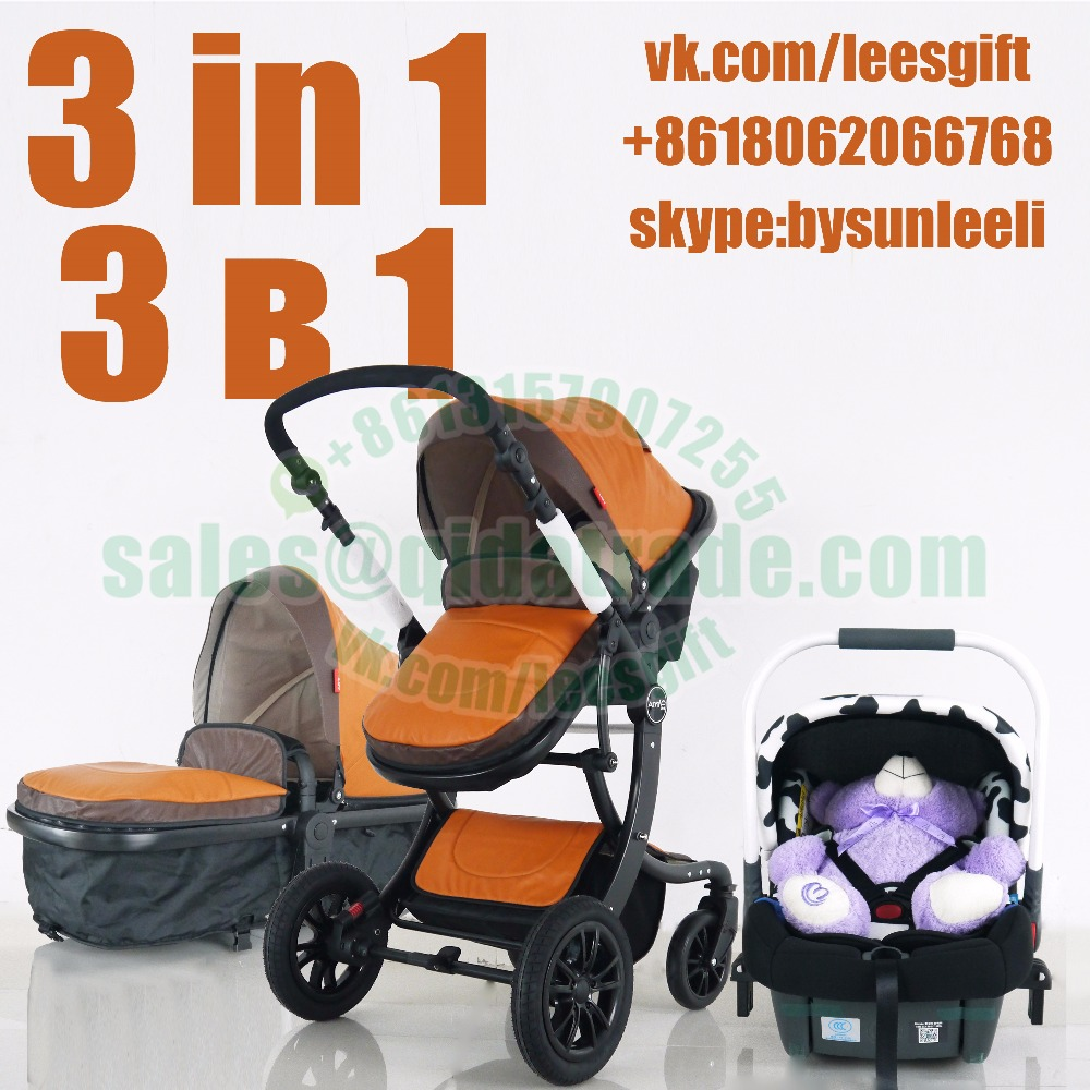 Baby Stroller 3 in 1 Car Seat High Landscape Folding Carriage For NEWBORN Child Prams WHEELCHAIR folding baby stroller lightweight baby prams for newborns high landscape portable baby carriage sitting lying 2 in 1