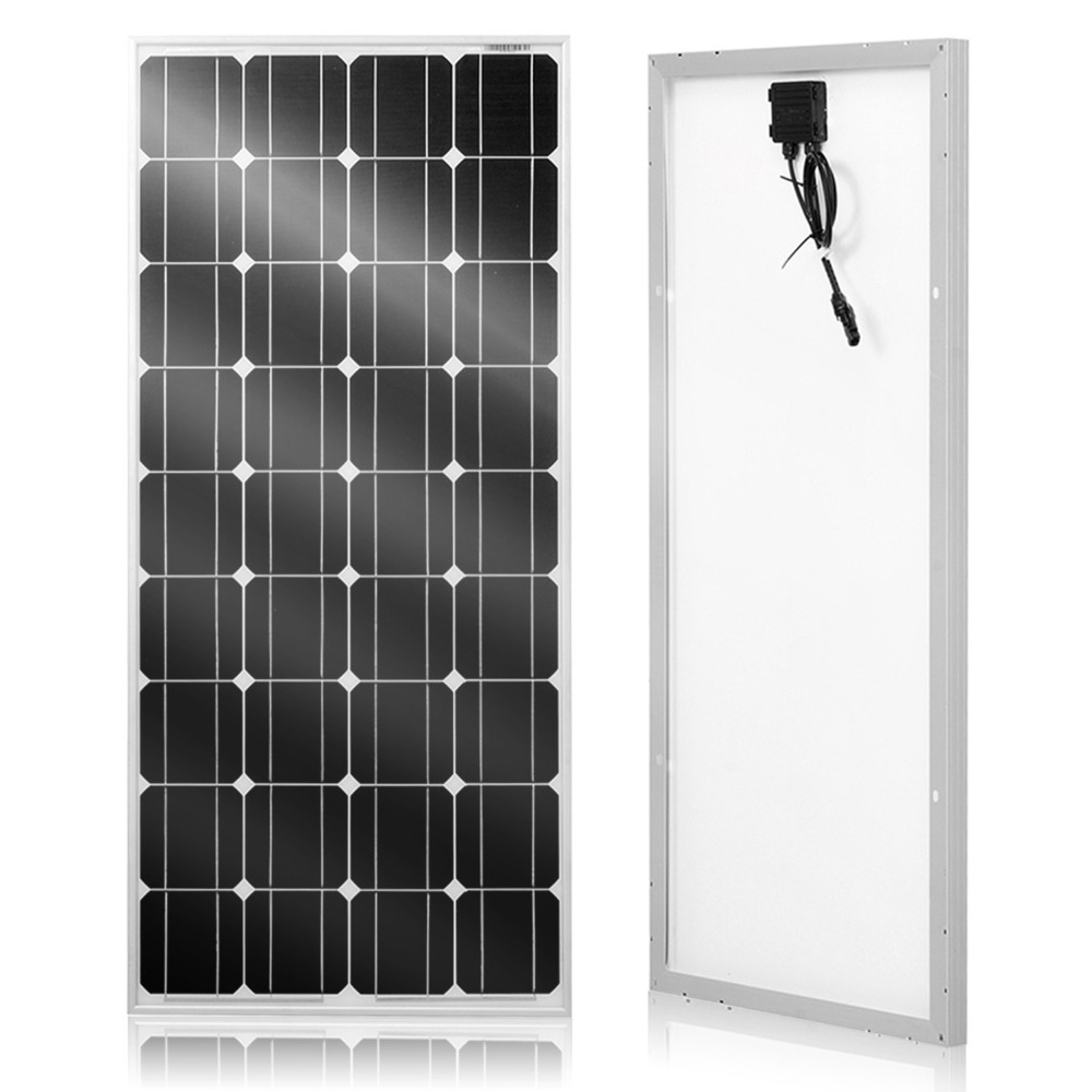 DOKIO Solar panel 100W 18V Glass solar Panels 200W 300W 400W panneau solaire Monocrystalline solar board  for home/RV 12V-in Solar Cells from Consumer Electronics