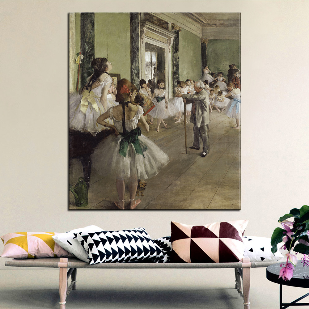 dp artisan the ballet class wall painting print on canvas for home decor oil painting arts - Artisan Home Decor