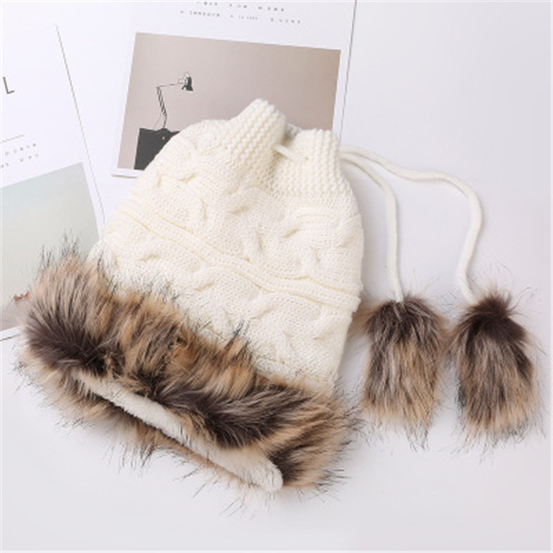 women winter beanie hat Rabbit fur wool knitted hat the female of the mink pom pom Shining Rhinestone hats for Knitted Hat women s winter beanie hat wool knitted cap shining rhinestone beanie mink fur pompom hats for women