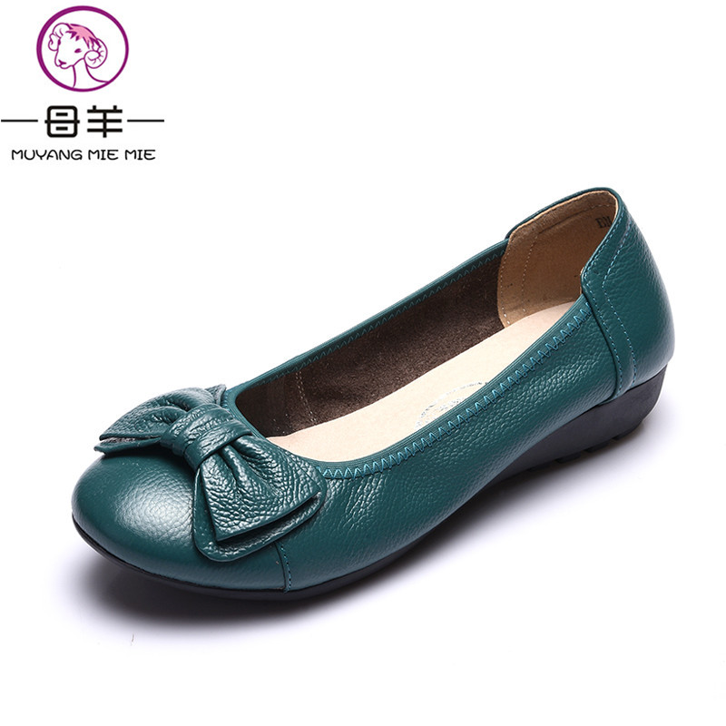 Plus Size(34-43) Women Shoes Genuine Leather Flat Shoes Woman Maternity Casual Work Shoes 2018 Fashion Loafers Women Flats plus size 34 43 women shoes genuine leather flat shoes woman maternity casual work shoes 2018 fashion loafers women flats