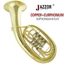 Profesional jazzor jzeu-310 bombardino profesional b clasificación de laca de oro brass viento instrumento con boquilla plana y caso