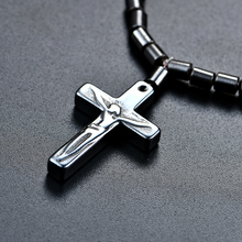 Black Cross Magnetic  Necklace