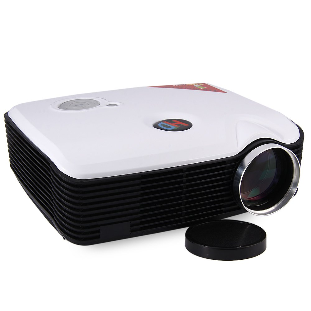 PH5 LED Projector Eink 5 Inch LCD TFT Panel Contrast Ratio 2000:1 2500 Lumens HD 1080P Projector With USB AV TV Inputs