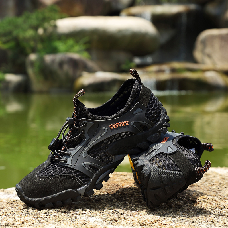 52daa27c9c7 US $22.8 43% OFF|ZUFENG Summer Men Hiking Shoes Outdoor Climbing Anti skid  Wear Resistant Trekking Boots Breathable Mesh Walking Shoes-in Hiking Shoes  ...