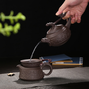 Factory direct purple sand Kung Fu tea set gift box set of tea teapot gift wholesale