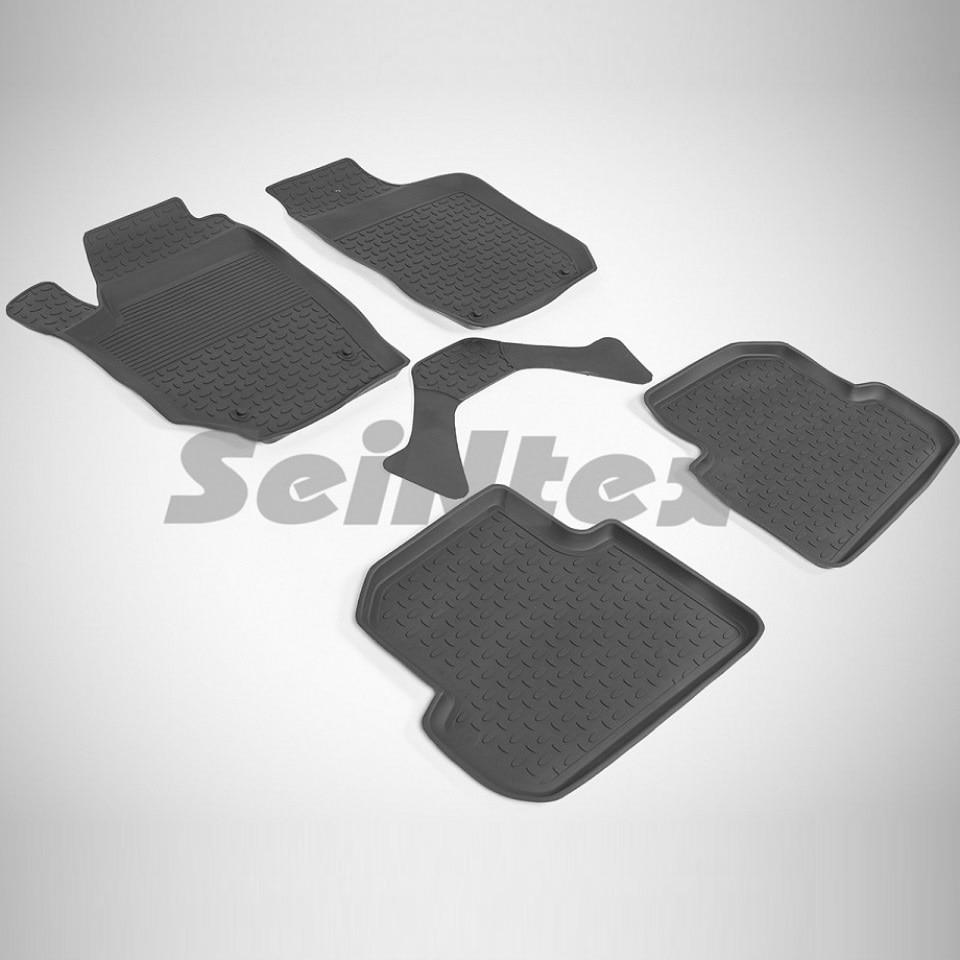 Rubber floor mats for Skoda Fabia II 2007-2014 Seintex 82564