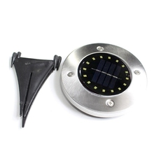 Светильник на солнечной батарее с 16 светодиодами 2 V/100 ma, наружный светильник, садовый настил, подземные лампы-белый светильник