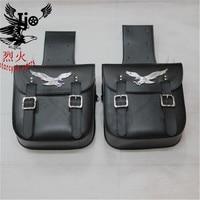 classic black motorcycle saddle bag for Vespa benelli harley softail mochila moto backpack helmet bag maletas moto saddlebag
