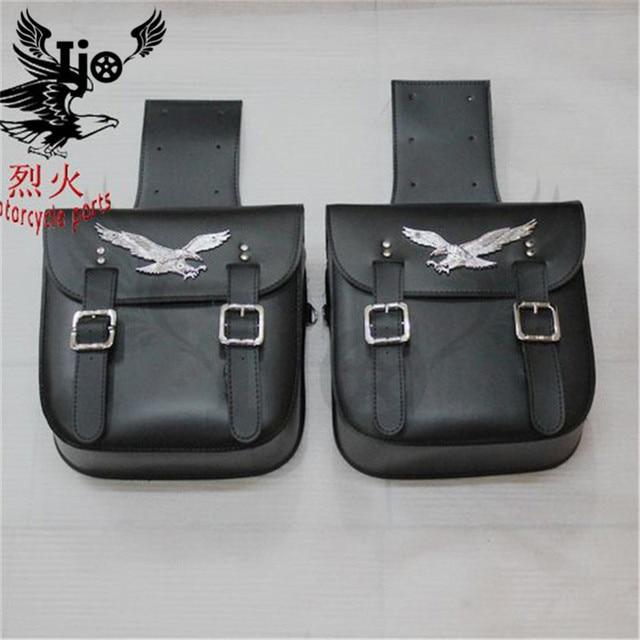 256825368c1 classic black motorcycle saddle bag for Vespa benelli harley softail mochila  moto backpack helmet bag maletas moto saddlebag