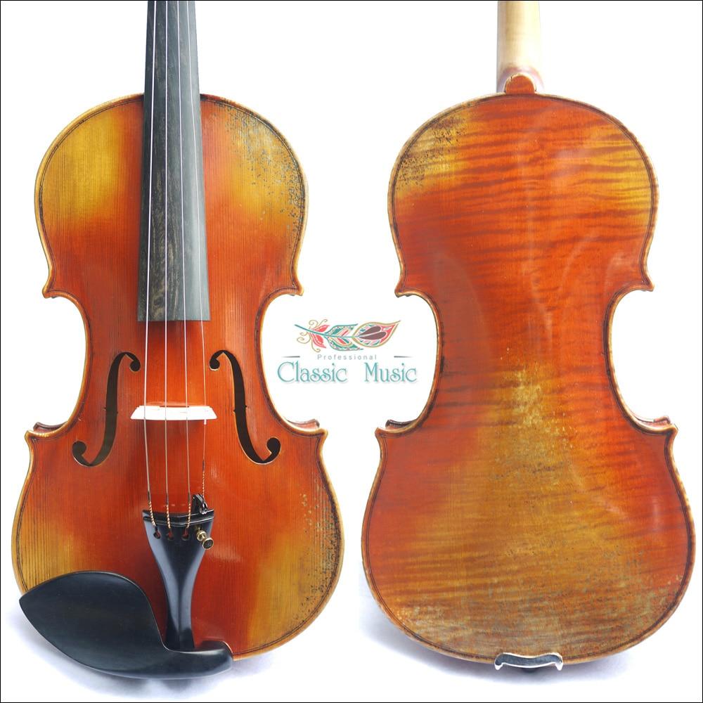 Antonio Stradivari 1715 Cremonese Model,100%Handmade Varnish, No.1429. Powerful sound, Master Violin,European Spruce handmade new solid maple wood brown acoustic violin violino 4 4 electric violin case bow included
