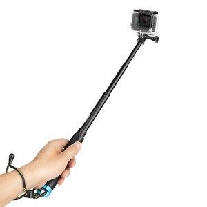 Image 5 - לירות נייד Selfie מקל להאריך חדרגל לgopro 9 8 7 5 שחור Xiaomi יי 4K Sjcam M10 Sj8 eken H9 מצלמה ללכת פרו אבזר
