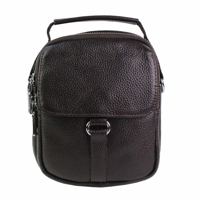 Men Fashion   Genuine Leather Men leather First layer Cowhide Cross Body Messenger Shoulder Pack Travel Trend HandBag  Handbags