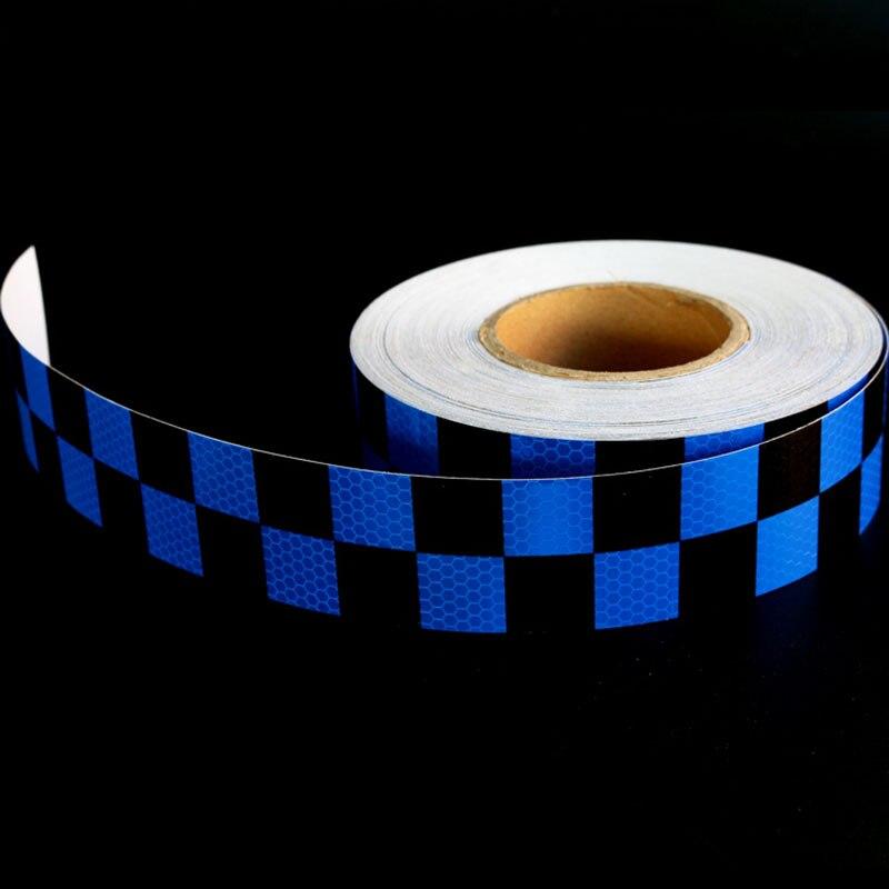 5 см цвет: черный, синий двойной Цвет шахматная доска решетки Светоотражающие Клейкие ле ...