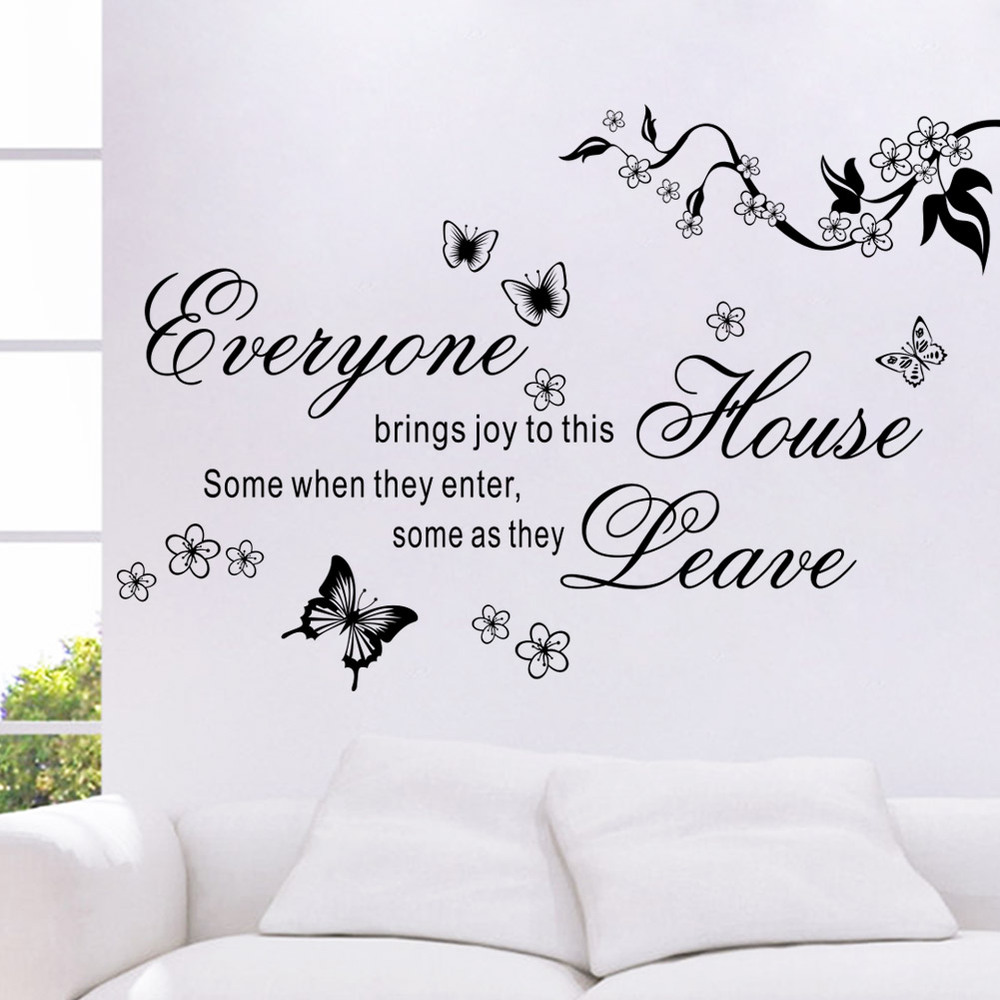 2017 new bring joys to this house vinyl wall stickers flower 2017 new bring joys to this house vinyl wall stickers flower quotes 8448 butterfly home decor mural wall sticker wall decal in wall stickers from home amipublicfo Choice Image