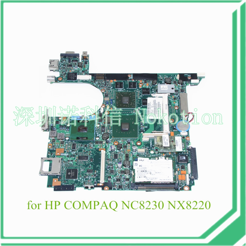 NOKOTION SPS 382688-001 For HP Compaq NC8230 NX8230 NX8200 Laptop motherboard 915PM ATI X600 graphics ddr2 nokotion 416903 001 laptop motherboard for hp compaq nx8220 nc8230 series intel 915pm with graphics card ati 9800 ddr2