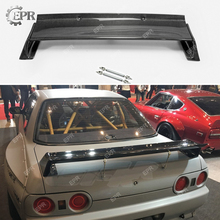 For Nissan Skyline R32 Carbon Fiber RB Rear Spoiler Body Kit Auto Tuning Part GTR Style Wing
