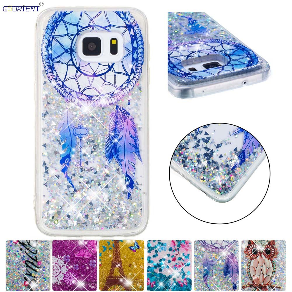Half-wrapped Case Cute Case For Samsung Galaxy S5 Bling Glitter Dynamic Liquid Quicksand Cover G900 Sm-g900f Sm-g900h Sm G900f G900h Phone Funda Sturdy Construction Cellphones & Telecommunications