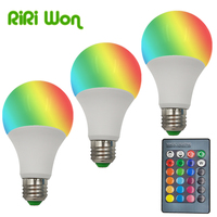 RGB Bulb Lamp AC110V 220V 3W 1Pcs E27 LED LED RGB Spot Light Dimmable Magic