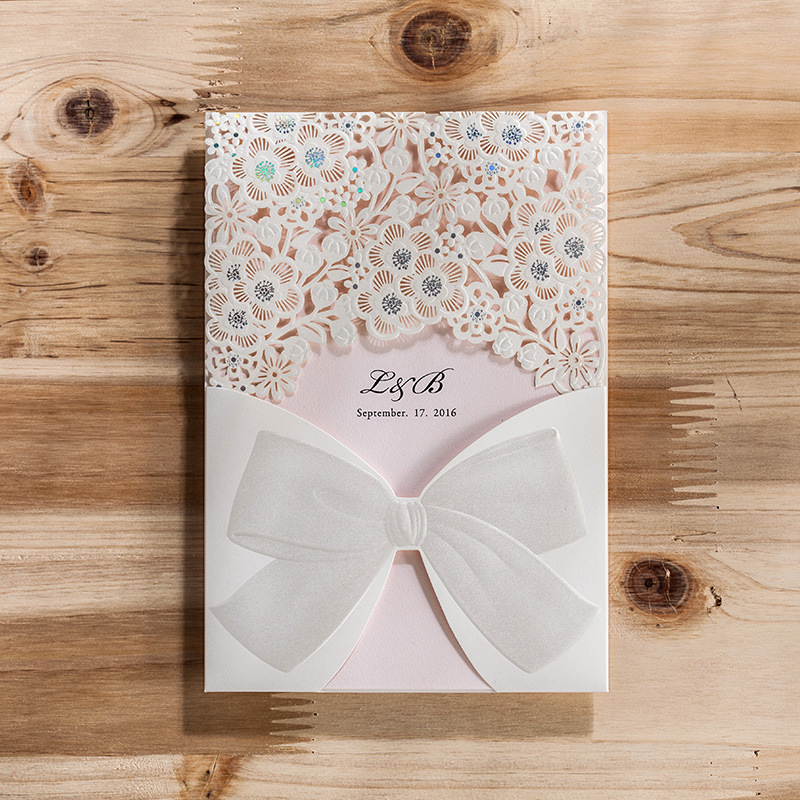 100pcs Lot Wishmadelaser Cut Wedding Invitations Card Elegant Party Events Free Printable Inner Sheet Birthday