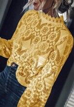купить women sweet lace crop top sleeveless O neck transparent blouse female hollow out short stylish shirts blusas W3 по цене 316.54 рублей