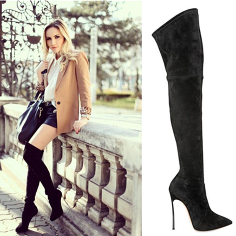 Popular Womens Thigh High Boots Metal-Buy Cheap Womens Thigh High ...