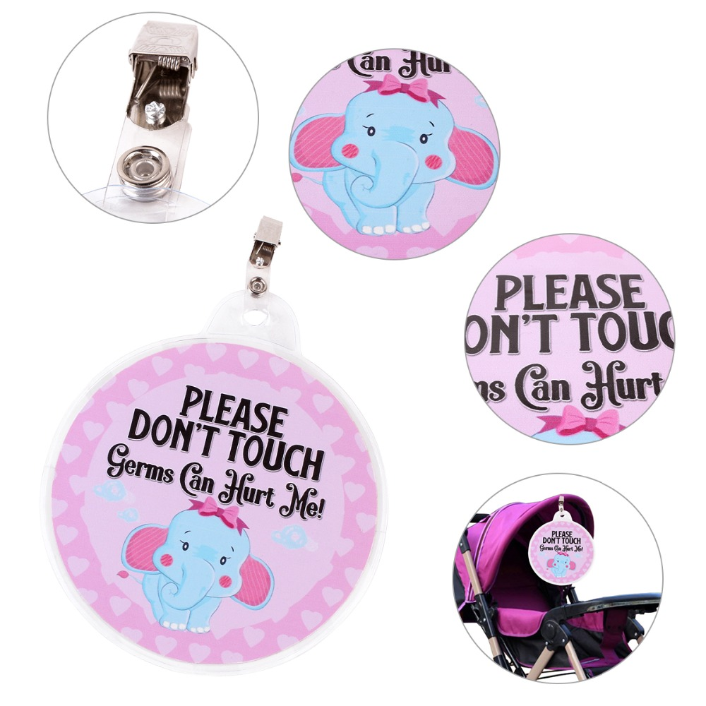 Gift Card Clip Hang Tag Sign No Touch Baby Shower Accessories Safety Stroller