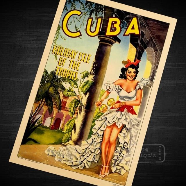 CUBA HOLIDAY ISLE OF TROPICS Beauty Landscape Vintage Classic Retro ...